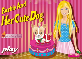 Играть онлайн - Barbie and Her Cute Dog
