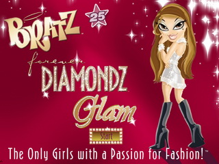 Играть онлайн - Bratz Diamondz Glam