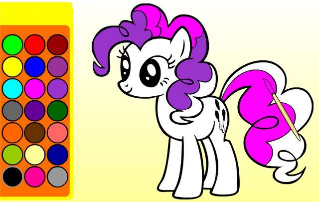 Пони игры раскраска онлайн