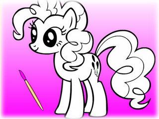 раскраска пони играть онлайн или скачать бесплатно