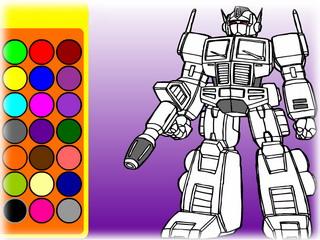 Робот трансформер игры раскраски