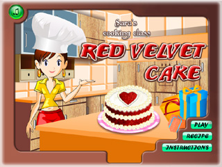Играть онлайн - Sara's Cooking Class. Red Velvet Cake