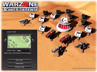 Играть онлайн - Warzone Tower Defense